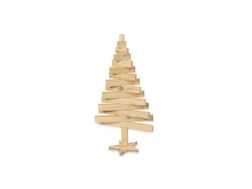 Sapin 3d en bois pied en étoile