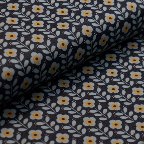 toile-ciree-coton-enduit-fleur-retro-bleu-fonce-bleu-clair-jaune-moutarde