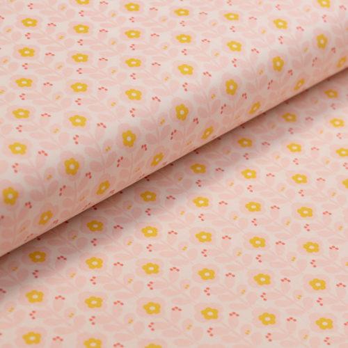 toile-ciree-coton-enduit-fleur-retro-creme-rose-clair-jaune