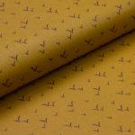 """""""Téflon vol d'oiseaux"""" (jaune moutarde-noir)"""