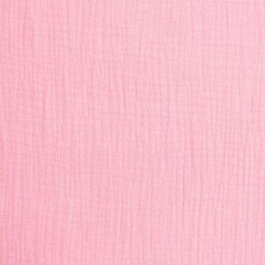 """Triple gaze coton """"Mousseline"""" (rose clair)"""