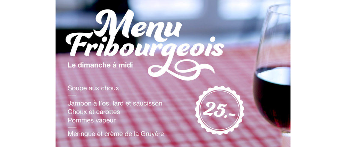 Affiche menu fribourgeois